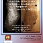 Presentación en la Universidad de Sevilla de los estudios sobre la estela epigráfica de Montoro (Córdoba)