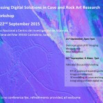 Un miembro del IRNAS, orador invitado en el workshop internacional Assessing Digital Solutions in Cave and Rock Art Research